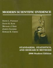 Cover of: Faigman, Kaye, Saks, Sanders and Cheng Science in the Law