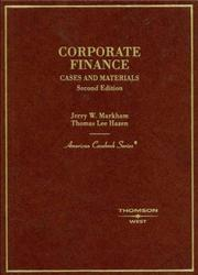 Cover of: Corporate Finance (American Casebook)