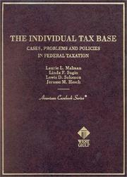 Cover of: The Individual Tax Base