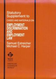 Cover of: Employment Discrimination and Employment Law