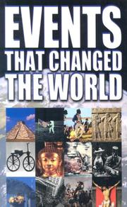 Cover of: Events That Changed the World