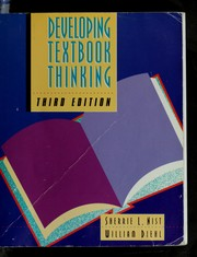 Cover of: Developing textbook thinking