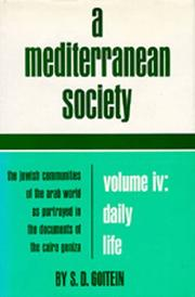 Cover of: A Mediterranean Society: The Jewish Communities of the Arab World as Portrayed in the Documents of the Cairo Geniza, Vol. IV