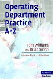 Cover of: Operating department practice A-Z