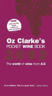 Cover of: OZ CLARKE'S POCKET WINE BOOK: THE WORLD OF WINE FROM A-Z