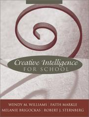 Cover of: Creative Intelligence for School