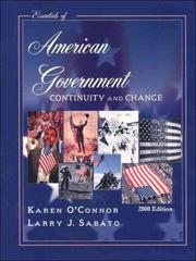 Cover of: Essentials of American Government: Continuity and Change