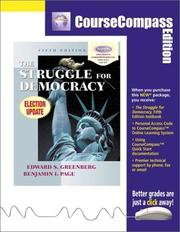 Cover of: The Struggle for Democracy