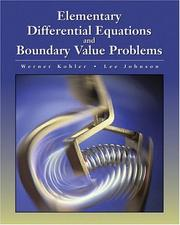 Cover of: Elementary Differential Equations with Boundary Value Problems