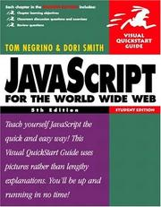Cover of: JavaScript for the World Wide Web, Fifth Student Edition (Visual QuickStart Guide)