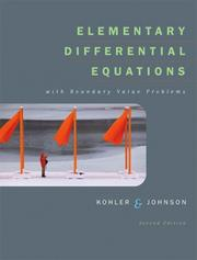 Cover of: Elementary Differential Equations with Boundary Value Problems (2nd Edition)