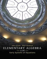 Cover of: Elementary Algebra with Early Systems of Equations (Carson Developmental Mathematics Series)