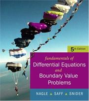 Cover of: Fundamentals of Differential Equations with Boundary Value Problems with IDE CD (Saleable Package) (5th Edition)