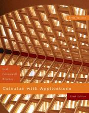 Cover of: Calculus with Applications, Brief Version