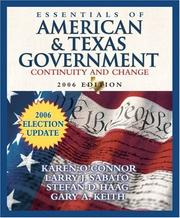Cover of: Essentials of American and Texas Government