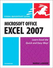 Cover of: Microsoft Office Excel 2007 for Windows