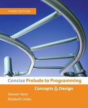 Cover of: Concise Prelude to Programming (3rd Edition)