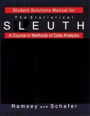 Cover of: Student Solutions Manual for the Statistical Sleuth