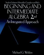 Cover of: Student Solutions Manual for Gustafson and Frisk's Beginning and Intermediate Algebra