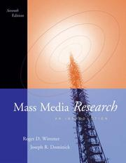 Cover of: Mass Media Research