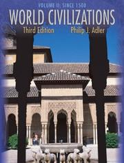 Cover of: World Civilizations, Since 1500