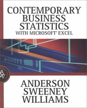 Cover of: Contemporary Business Statistics with Microsoft Excel