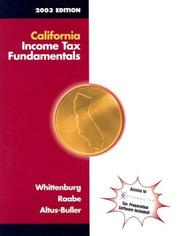 Cover of: California Income Tax Fundamentals 2003