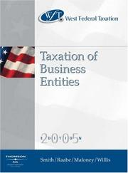 Cover of: West Federal Taxation 2005: Business Entities, Professional Version (West's Federal Taxation: An Introduction to Business Entities)