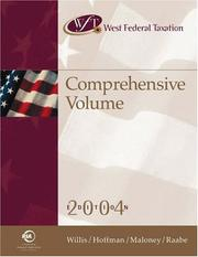 Cover of: West Federal Taxation: Comprehensive Volume 2004, Professional Version (West's Federal Taxation: Comprehensive Volume)
