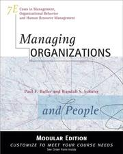 Cover of: Managing Organizations and People, Modular Version