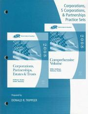 Cover of: Practice Sets for Hoffman/Raabe/Smith/Maloney's West Federal Taxation