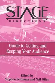 Cover of: Stage Directions Guide to Getting and Keeping Your Audience (Stage Directions Guides)