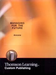 Cover of: Managing for the Future