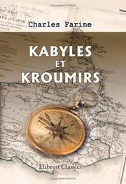 Cover of: Kabyles et Kroumirs
