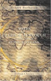 Cover of: Notes of a Clerical Furlough Spent Chiefly in the Holy Land