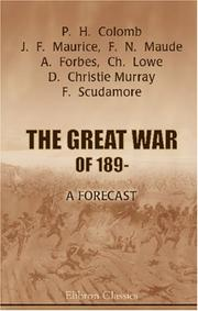 Cover of: The Great War of 189-: a forecast