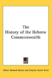 Cover of: The History of the Hebrew Commonwealth