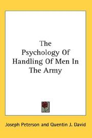 Cover of: The Psychology Of Handling Of Men In The Army