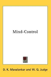 Cover of: Mind-Control