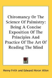 Cover of: Chiromancy Or The Science Of Palmistry