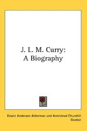 Cover of: J. L. M. Curry