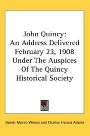 Cover of: John Quincy