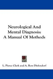 Cover of: Neurological And Mental Diagnosis