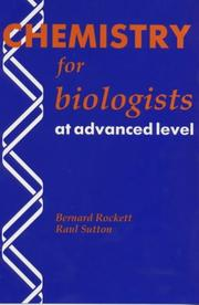 Cover of: Chemistry for Biologists at Advanced Level