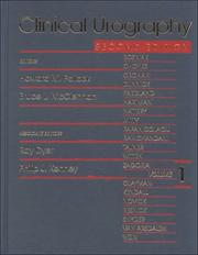 Cover of: Clinical Urography Volume 1