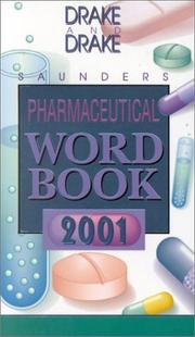 Cover of: Pharmaceutical Word Book 2001 + Pharmaceutical XREF 2001