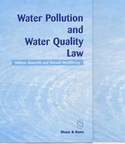 Cover of: Water Pollution and Water Quality Law