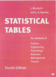 Cover of: Statistical Tables for Science, Engineering, Business Management and Finance
