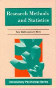 Cover of: Research Methods and Statistics (Introductory Psychology)