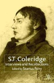 Cover of: S.T. Coleridge